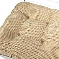 Tyler Chair Pad Seat Cushion Washable Arlee 16 x 16 Inches Reduces Pressure and Contours to Body Memory Foam Superior Comfort and Softness Tan, Set of 2 Durable Fabric Non-Skid Backing