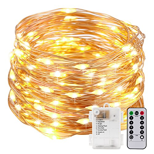 Kohree String Lights LED Copper Wire Fairy Christmas Light with Remote Control, 20ft/6M 60LEDs, AA Battery Powered, Seasonal Decor Rope Lights for Holiday, Wedding, Parties, Waterproof Battery Box The Reason For Christmas Lights