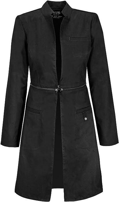 62b1a0998e0 Amazon.com: Cherokee 1404 Women's 32-in Lab Coat Black XX-Small ...