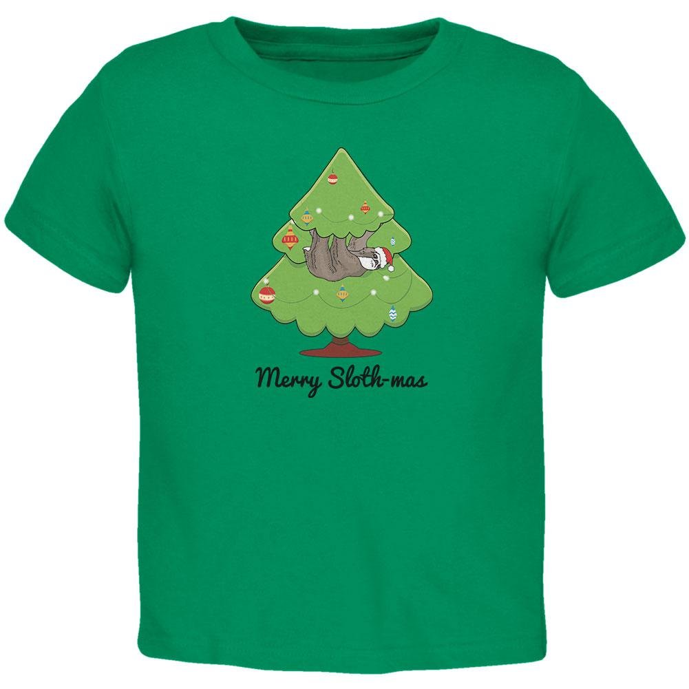 Old Glory Frohe Slothmas Faultier Weihnachtsbaum Kleinkind T Shirt ...