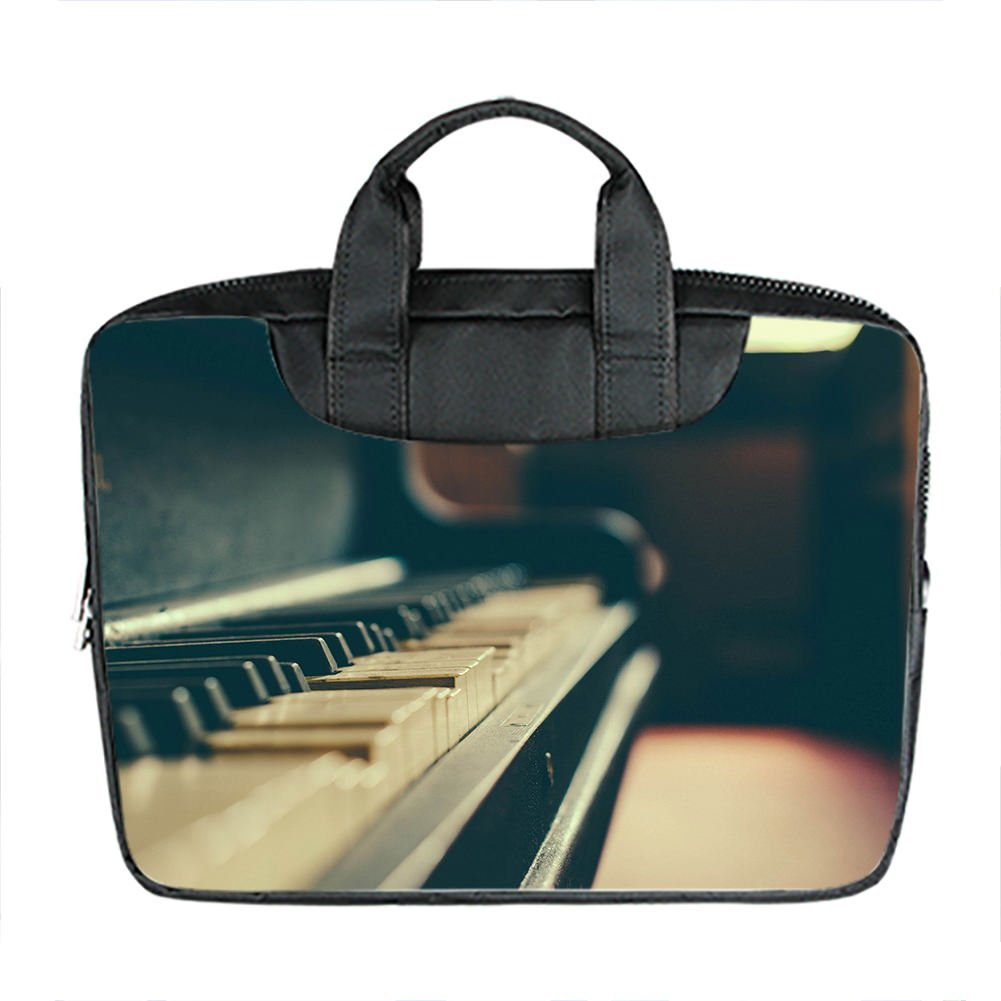 81455f7d686f2 Custom 15 Inch Imported Nylon Waterproof Fabric Laptop Portable Shoulder  Messenger Bag Diy Aesthetic Piano Design  Amazon.co.uk  Luggage