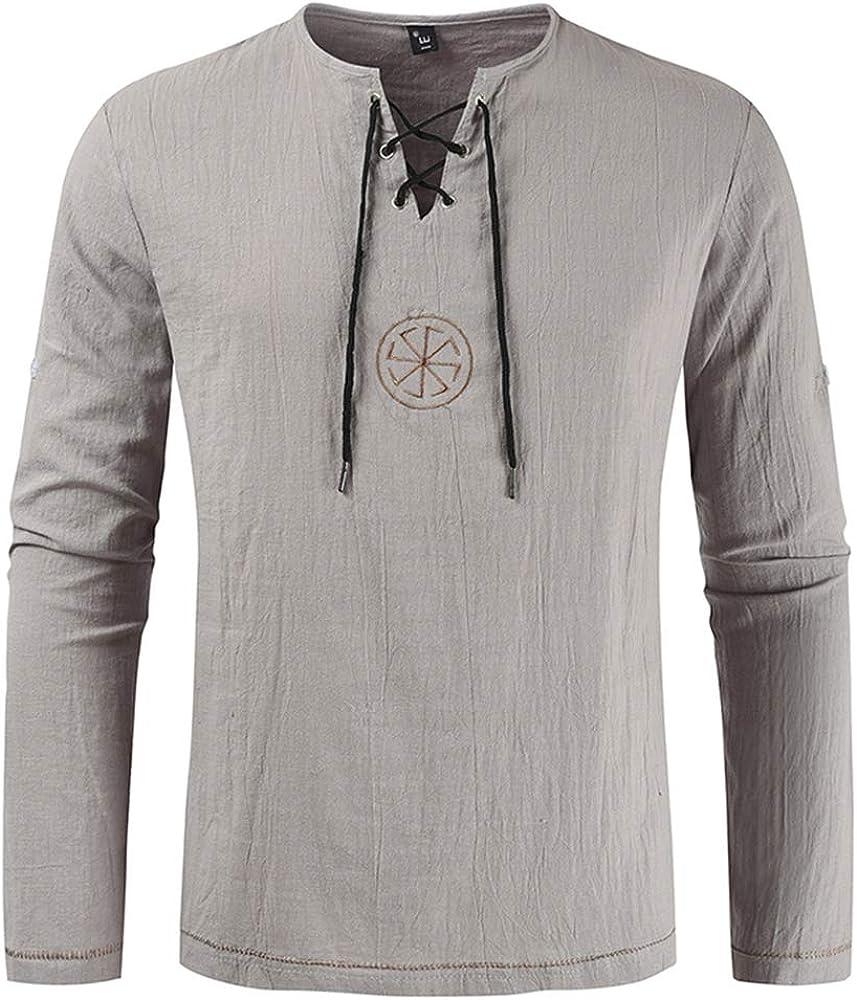 Dahee - Camisa de pirata medieval para hombre, diseño de vikingo, renacentista, escocesa, con cordones, Jacobite Ghillie Tops - Gris - X-Small: Amazon.es: Ropa y accesorios