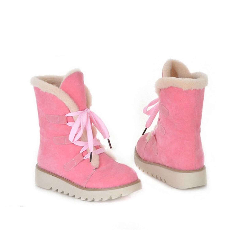 Show-Show-fashion winter Stiefel Damen Stiefel, Schwarz, Plateau-Stiefel, Übergröße, hält warm, M Beige (Khaki), 34 M warm, EU c54b72