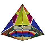 Amlong Crystal Iridescent Pyramid Rainbow Colors With Gift Box, 2.5-Inch