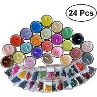 SUPVOX Vela bricolaje cera tinte 24 colores tinte