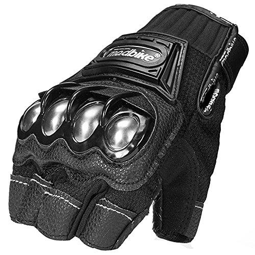 ILM Alloy Steel Bicycle Motorcycle Motorbike Powersports Racing Gloves (XL, HF-BLACK) by ILM (Image #3)