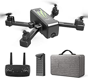 HR H5 GPS Drone with 1080P HD Camera,Foldable Portable Quadcopter with Auto Return Home,Custom Flight Path,Follow Me,Long Control Range,Drones for Adults Kids and Beginners