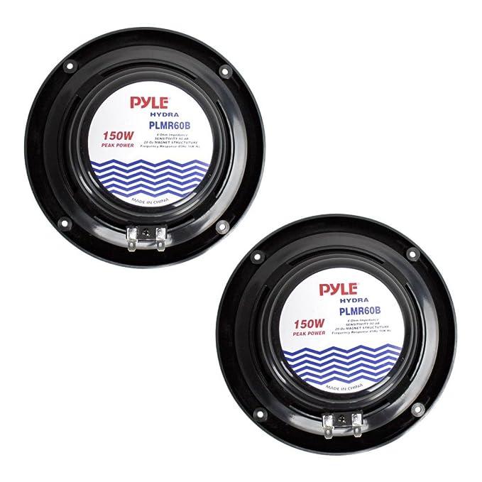 Auto & Motorrad: Teile New Pyle PLMR60B Pair 150Watts 6.5'' 2 Way Black Marine Boat Waterproof Speakers