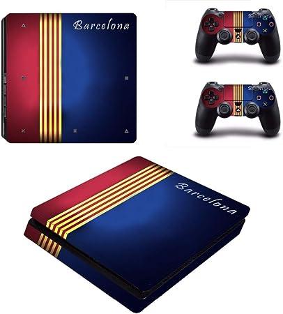 SJYMKYC Barcelona Football PS4 Adhesivo De Piel Delgada para Playstation 4 Consola Y Controladores Calcomanía PS4 Adhesivo Delgado De Vinilo: Amazon.es: Hogar