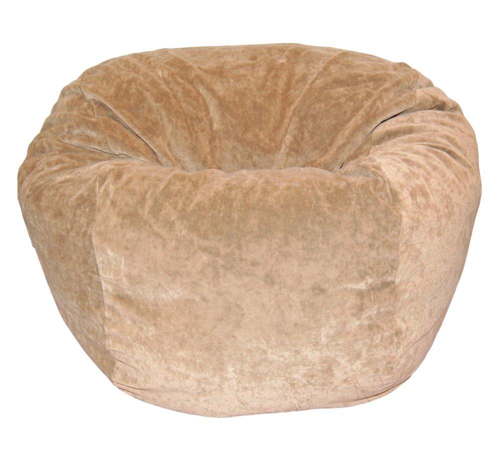 Ahh! Products Microsuede Velvet Tan Washable Kid Bean Bag Chair