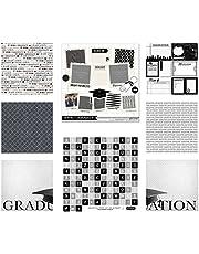 Scrapbook Customs 17587 Themed Paper & Stickers Scrapbook Kit, Graduation