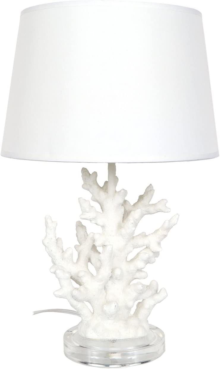 DEI Coral Décor Lamp, Medium, White