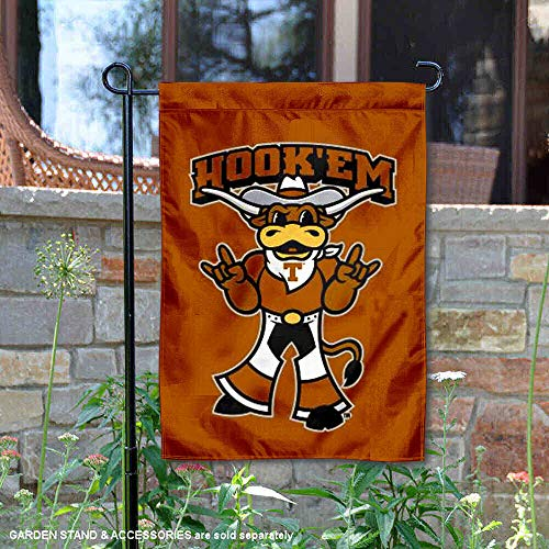 (College Flags and Banners Co. Texas Longhorns Hook Em Horns Garden)