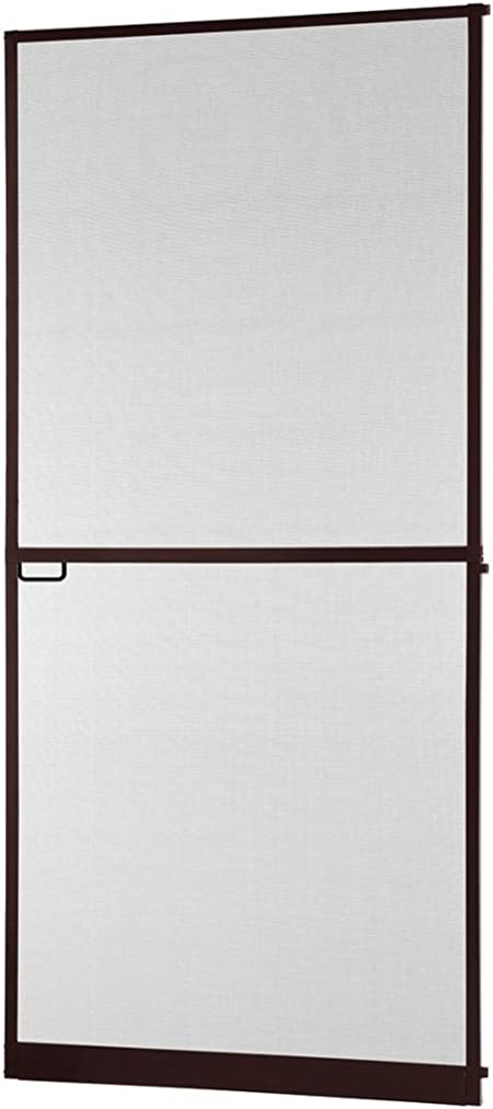 marron charnières 100 x 210 cm Protection insectes Moustiquaire porte au cadre en aluminium en blanc