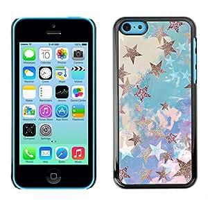 SKCASE Center / Funda Carcasa - Nubes Glitter Blue Purple;;;;;;;; - iPhone 5C