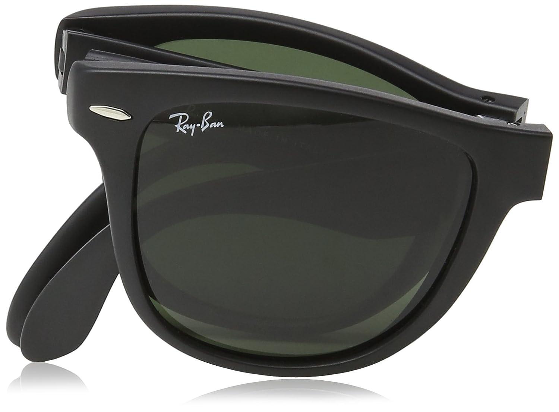Ray-Ban Gafas de sol Wayfarer plegable verde negro mate RB4105 601S 54