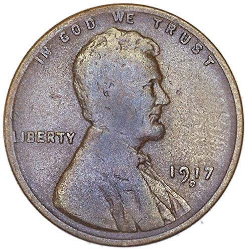 1917 D High MM Lincoln Wheat Cent Good