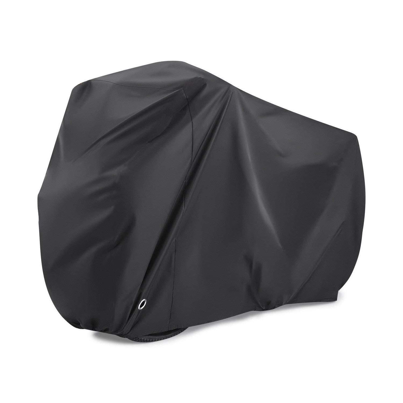 Anpress - Funda para bicicleta, con cerradura, nailon 190T, cubierta para lluvia para bicicleta de montaña, impermeable, antipolvo, lluvia, protección UV, revestimiento de poliuretano, nano material (moto de menos de 29 pulgadas)