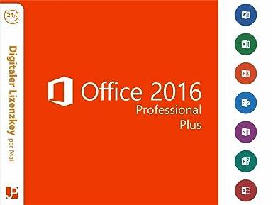 Microsoft Office Professional Plus 2016 Vollversion - 1 PC