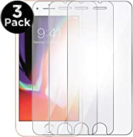 Kit 3x Películas de Vidro Temperado para Celular iPhone 7 Plus iPhone 8 Plus, Transparentes (3x Unidades)
