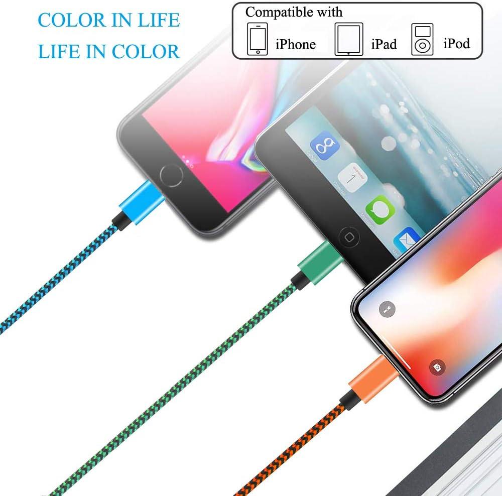 Gris 6plus 8plus 1.5m// Lot de 3 7 7plus Compatible t/él/éphone XS//xsmax//XR C/âble de Chargeur pour t/él/éphone avec Nylon Tress/é C/âble USB Chargeur Phone 8 6