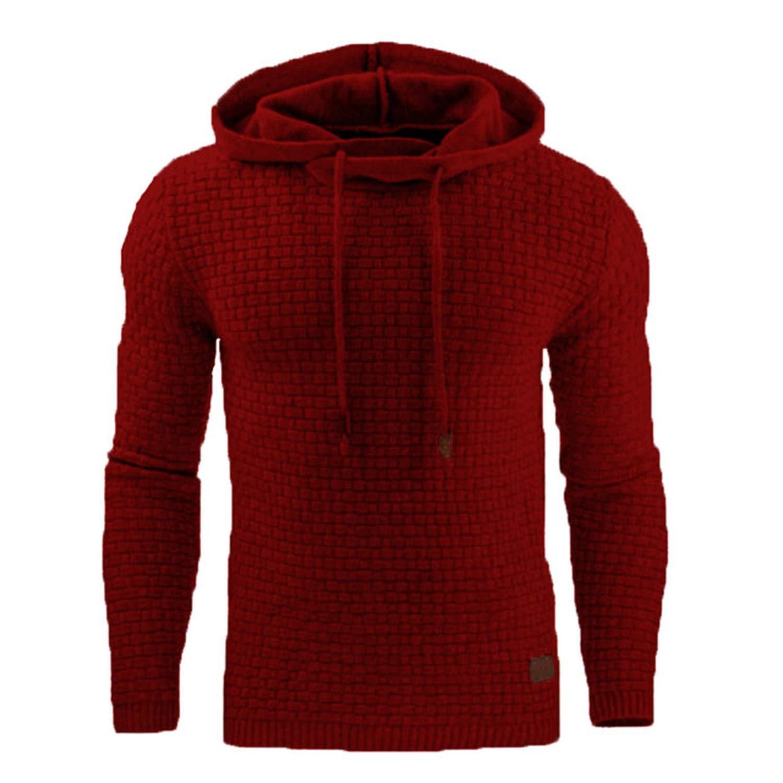 The small cat 2019 Autumn Mens Hoodies Slim Hooded Sweatshirts Mens Coats Male Casual Sportswear Streetwear