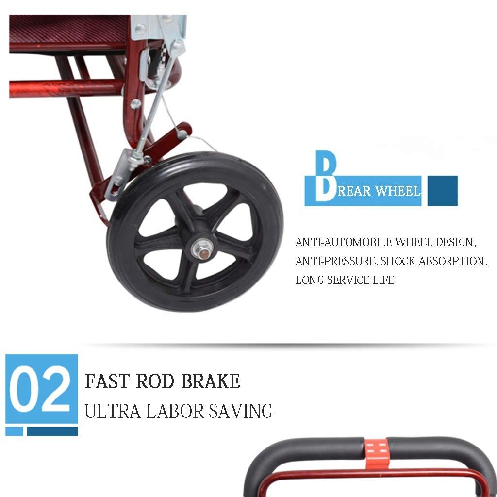 Carrito de compras de cuatro ruedas para personas mayores, un ...
