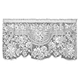 Heritage Lace Victorian Rose 60-Inch Wide by 30-Inch Drop Tier, Ecru Review