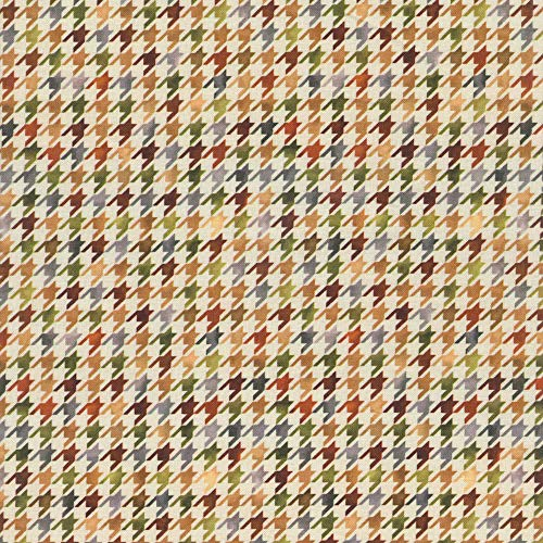 - Quilting Treasures Turkey Hill Houndstooth Check Brown