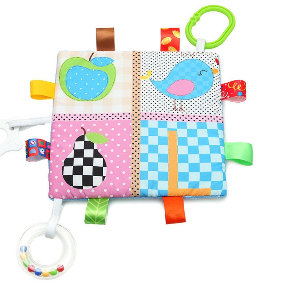 Newin Star Appease Towel Toys, Baby Calm Cloths Towel Blanket Tag Blanket(Little Bird)