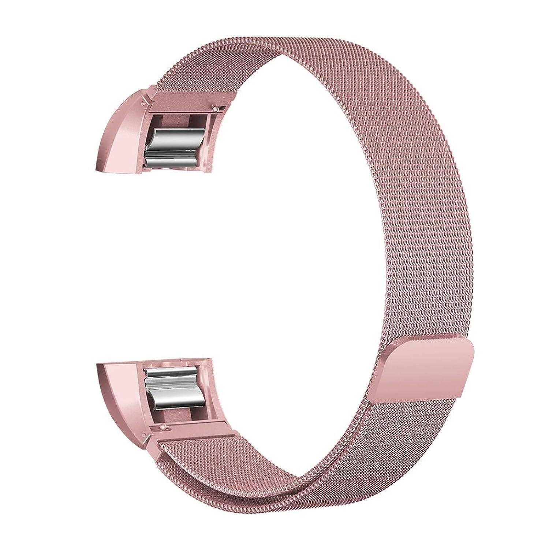 時計バンドfor Fitbit ALTA、AxiEr交換用アクセサリーMilaneseステンレススチールメタルバンドFitbit ALTAリストバンドスーツレディース、メンズ、ローズゴールド  B078J25JHG