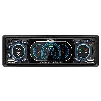 Favoto Autoradio Bluetooth Manos Libres Radio FM Estéreo de Coche 60Wx4 Apoyo de Reproductor MP3 para Automóvil con Puerto Dual USB Micro SD AUX Control Remoto Manual de Español Negro 1 DIN