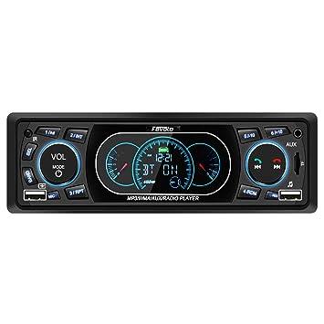 Favoto Autoradio Bluetooth Manos Libres Radio FM Estéreo de Coche 60Wx4 Apoyo de Reproductor MP3 para ...