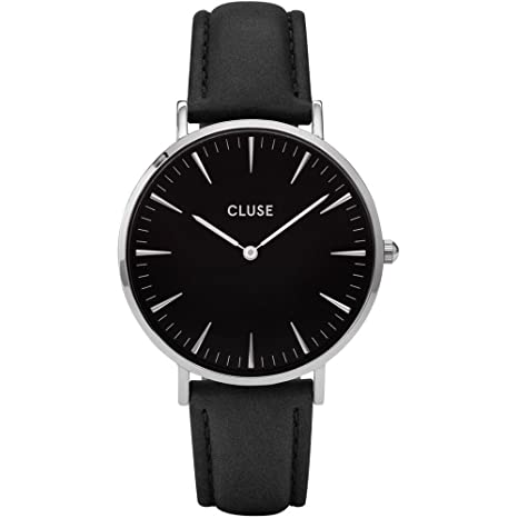 Cluse Reloj Analógico de Cuarzo para Mujer con Correa de Cuero – CL18201