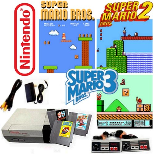 Game Bros Super Mario Original (Nintendo NES Game System with Super Mario Bros. 1, 2 & 3)