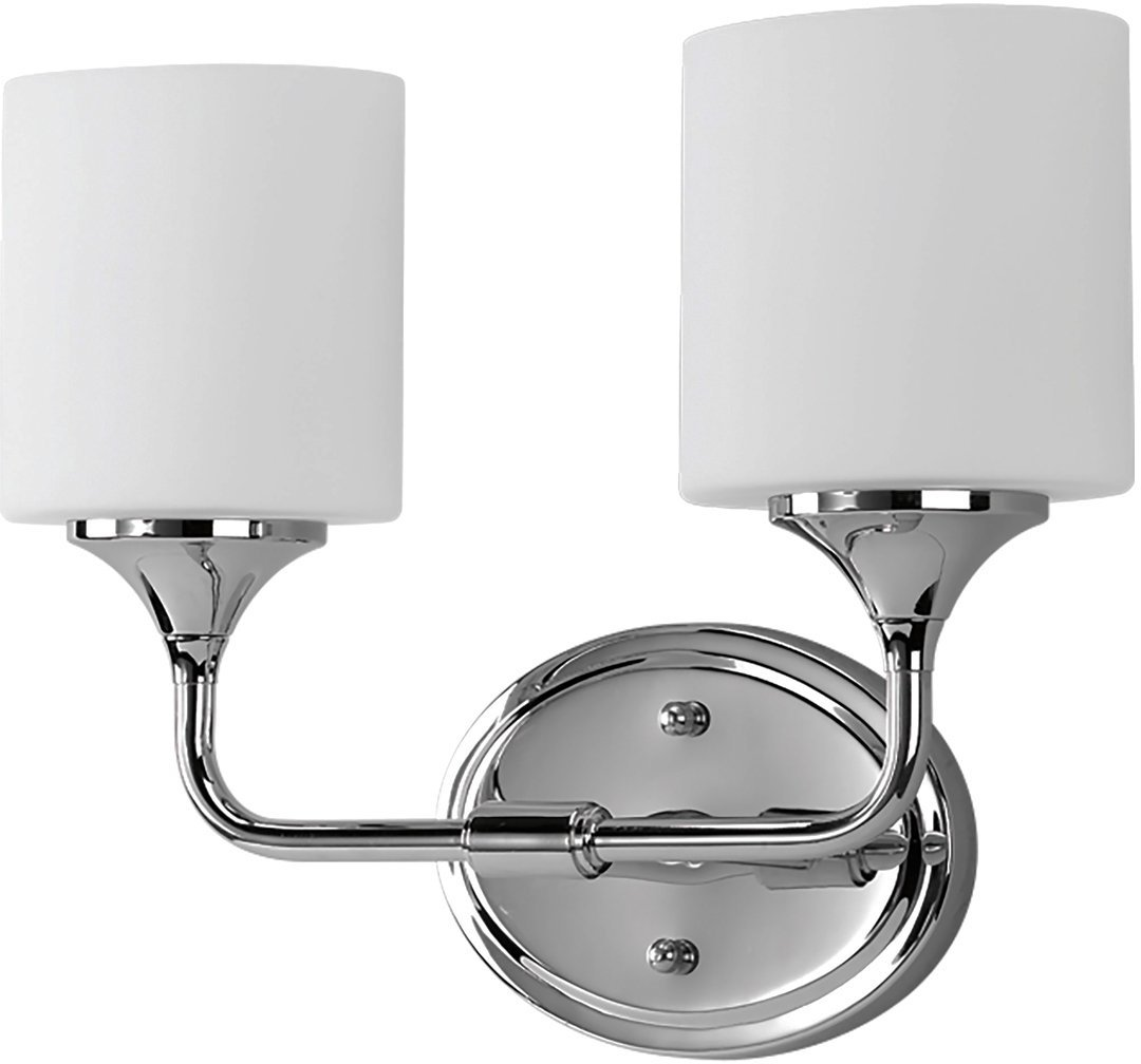 Luxury Contemporary Bathroom Vanity Light, Medium Size: 11.125''H x 14.5''W, with Transitional Style Elements, Polished Chrome Finish, UHP2570 from The Coventry Collection by Urban Ambiance
