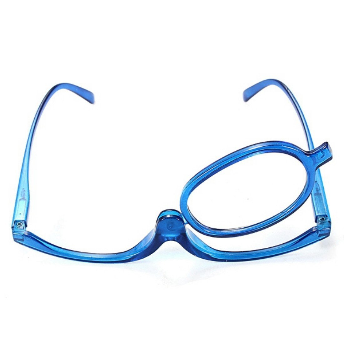 Levante y baje las gafas de maquillaje Color azul con lupa de lectura, plegable gafas de maquillaje y cosméticos Lupas cosméticas espejo Ungfu Mall