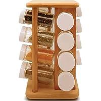 Porta Temperos em Bambu 17 Peças Com Base Giratória YOI 8108010061