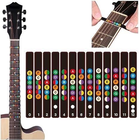 Takestop® - Juego de etiquetas adhesivas para guitarra, para ...