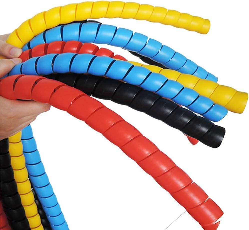 2/m Fil Loom Gaine flexible Spiral Wrap Band Tube Gestion de c/âble manches Cordon protecteur 8/mm free size Red
