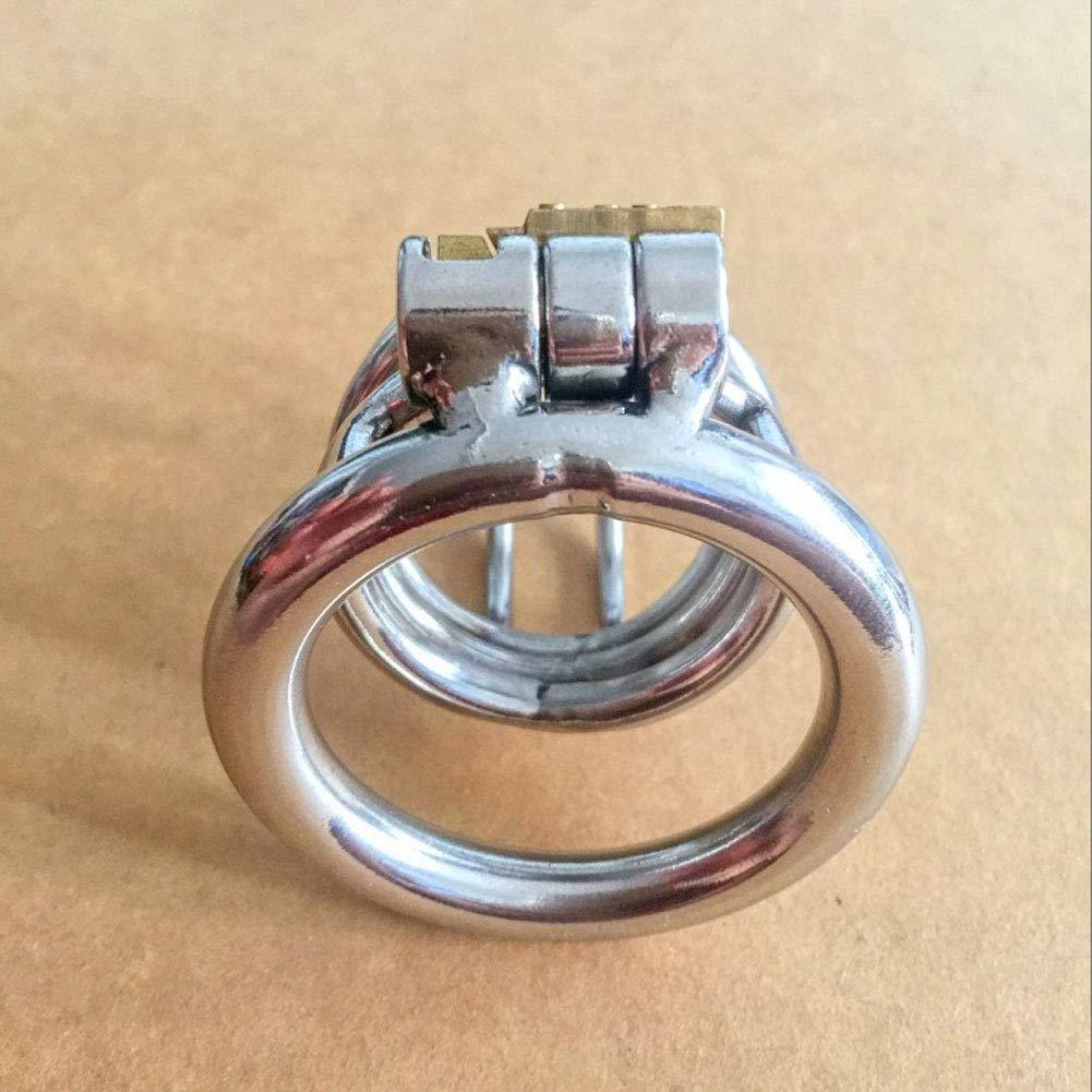 Q-HL Jaulas de pene Cinturones de castidad Juguete Juguete Sexual Bloqueado Juguete castidad Masculino 3 Tamaño Restraining Bondage Silver (Tamaño : 45mm) 3a5437