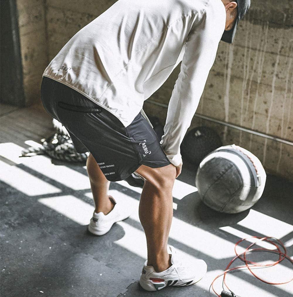 DEEWISH Herren 2 in 1 Shorts Laufshorts Dual Kurze Sporthose M/änner Fitness Schnell trocknend Laufhose Sport Hosen Trainingshose 2019 Men/'s Compression Shorts Atmungsaktiv mit Handytasche