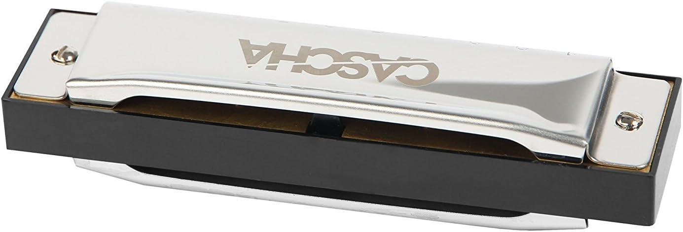 CASCHA HH 2007 Armónica de blues, en Do mayor con estuche y paño de limpieza: Amazon.es: Instrumentos musicales