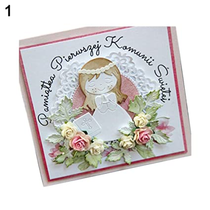 PRAYING BOY GIRL METAL CUTTING DIES DIY SCRAPBOOKING PAPER CARDS ALBUM STENCIL