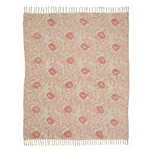 (VHC Brands 19805 Genevieve Printed Woven Throw 60x50)