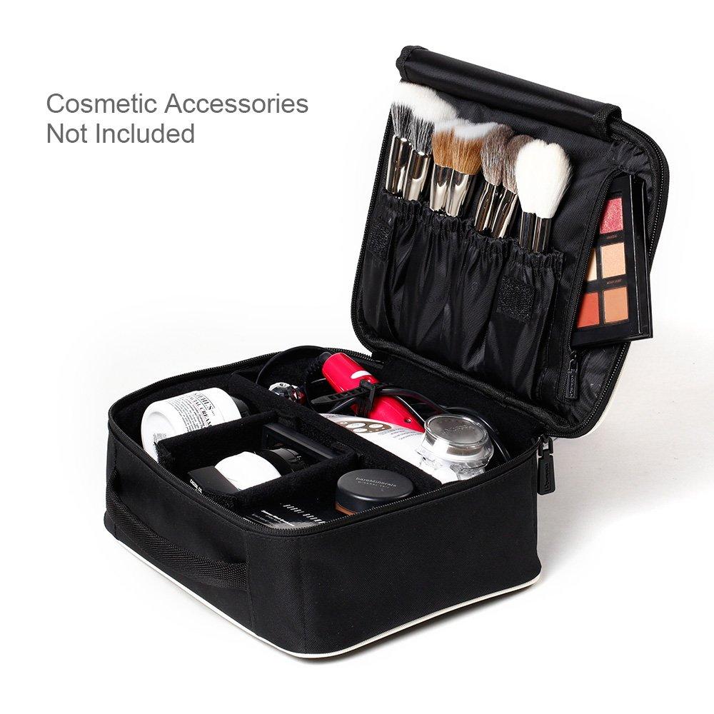 Amazon.com: ROWNYEON Portable Travel makeup bag / Makeup Case / Mini Makeup  Train Case 9.8'' (White edge): Beauty