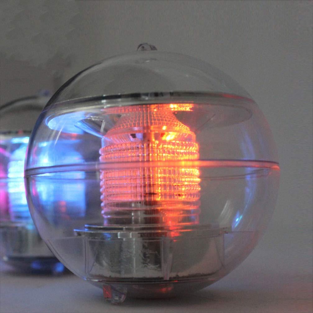 OSALADI Wasser f/ührte Kugel leuchtet Lampe Solarstrom-Pool f/ür die Dekoration 2ST Pool Teich schwimmen Garten