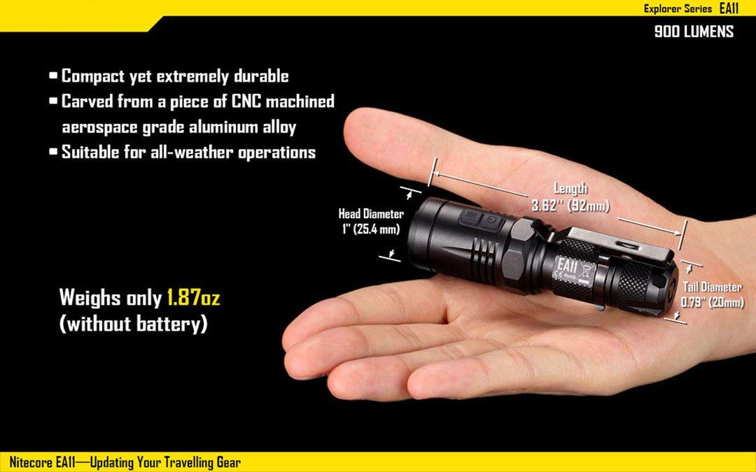 Nitecore LED Lumen Taschenlampe EA 11-300 Lumen LED ad1a4f