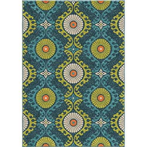 Amazon Com Orian Rugs Indoor Outdoor Rugs Promise Floating Floral