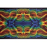Sunshine Joy 3D Rainbow Ripple Tapestry Wall Hanging Trippy Table Cloth Magical Dorm Decor - Huge 60x90 Inches